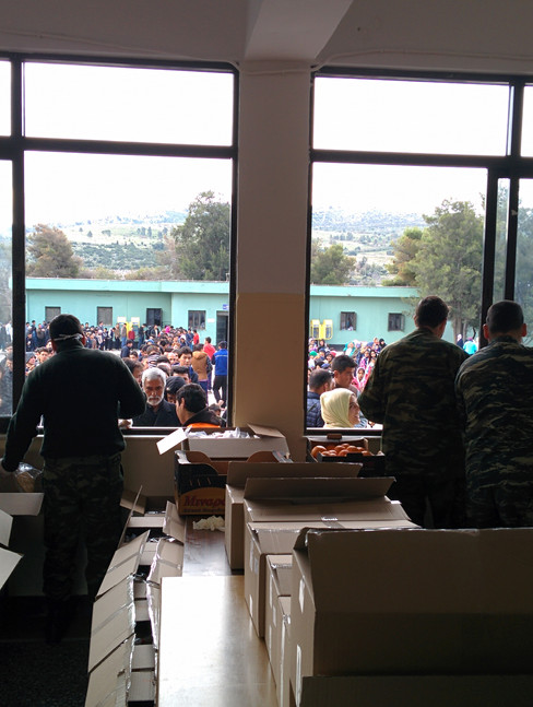 Army camp turned refugee camp Schisto Greece