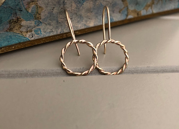 Radiance Collection circle dangle earrings