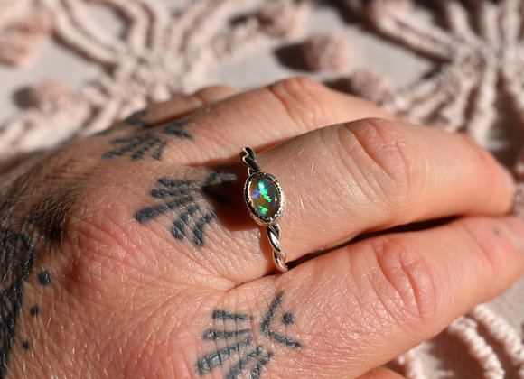 Sterling Silver and Jelly Opal Ring