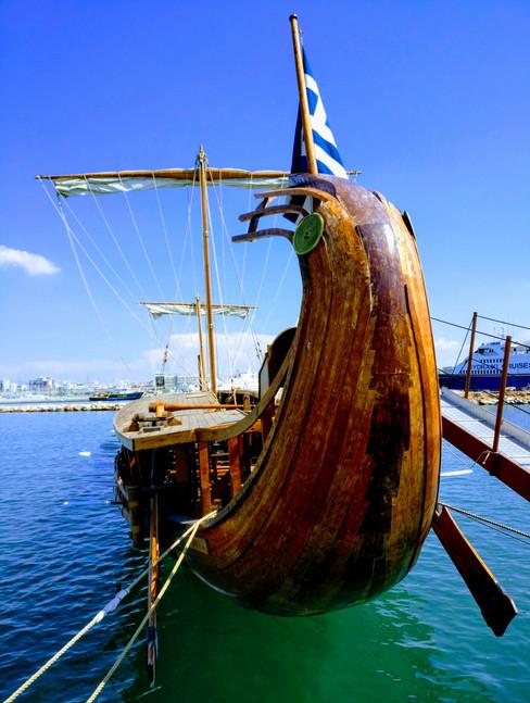Trireme boat