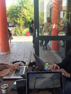 Working in Idomeni camp sending news