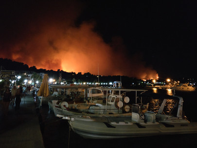 Fires raging close to village