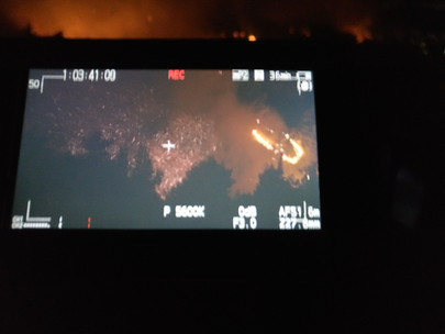 Filming fires in Greece