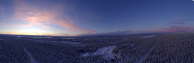 Panorama picture of the Finish Lapland