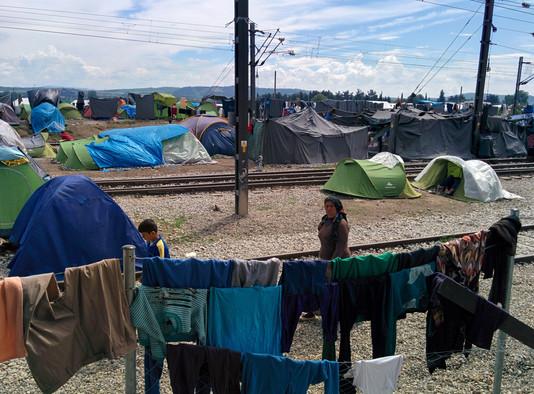 Greece, Idomeni refugee camp