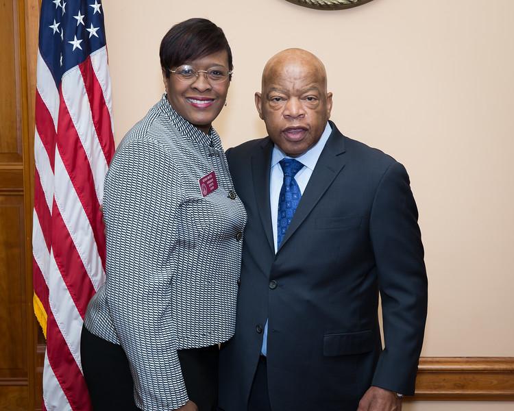 Keisha Waites & Congressman Lewis