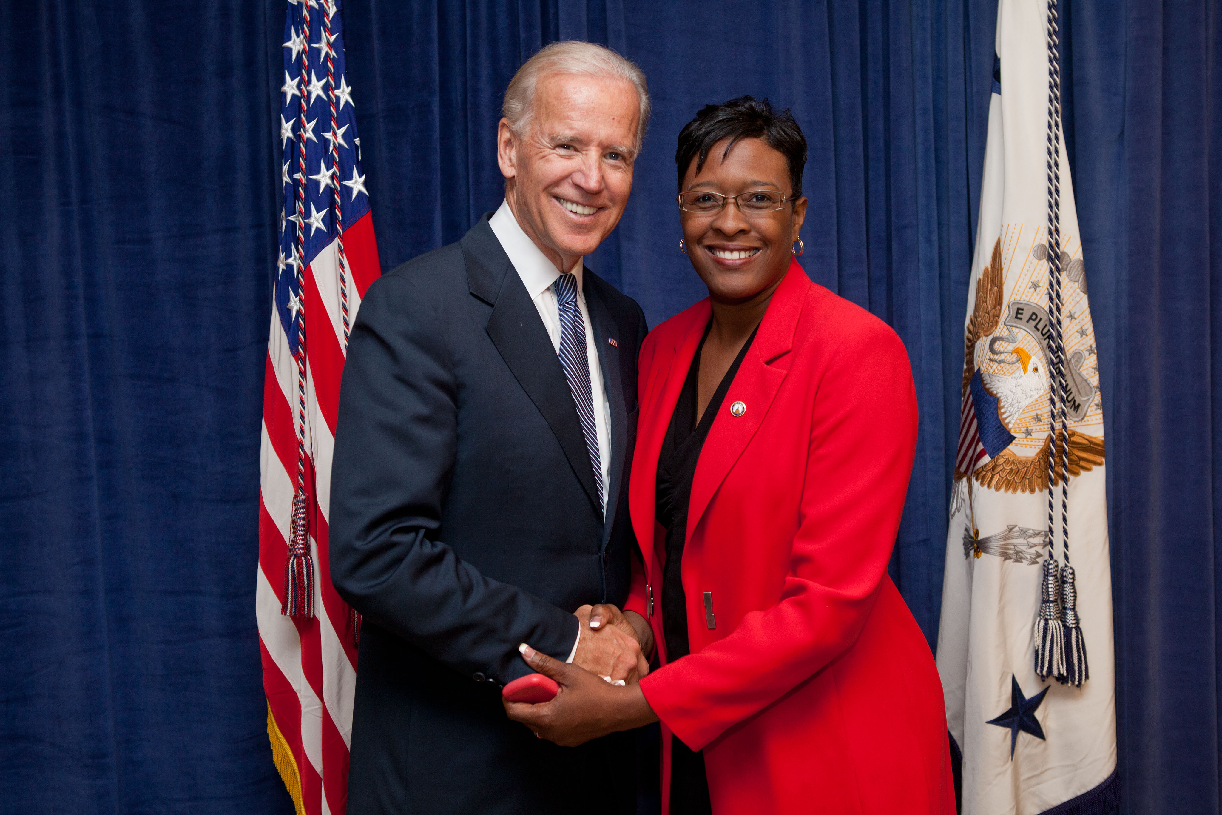 Rep. Waites and Vice President Joe Biden