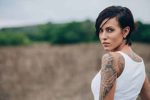 Woman with a Shoulder Tattoo