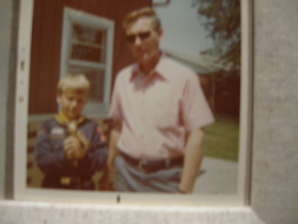 About '73 when Dad and I won the Pinewood derby when I was in Cub Scouts.