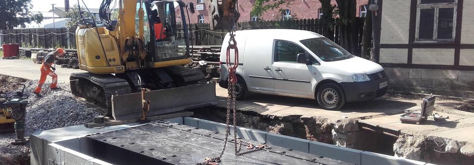 Einbau Gleiswaage BWR Rastatt