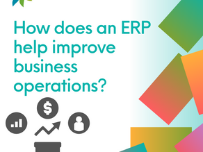 How does an ERP help improve business operations?