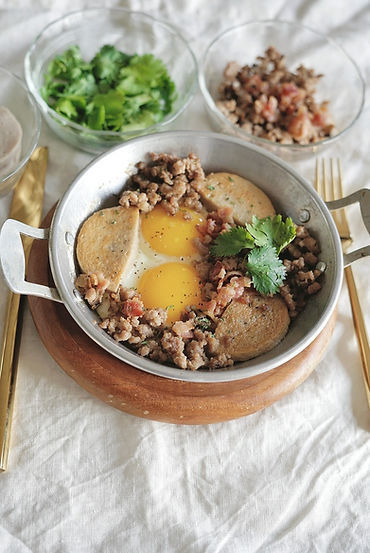 Thai Classic Pan Eggs Breakfast (Kai Krata)