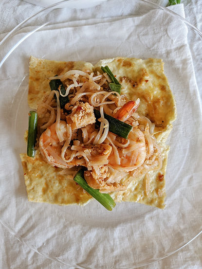 "Easy Stir-fried Pad Thai Wrapped in Eggs Recipe with ""Made In"" Wok"