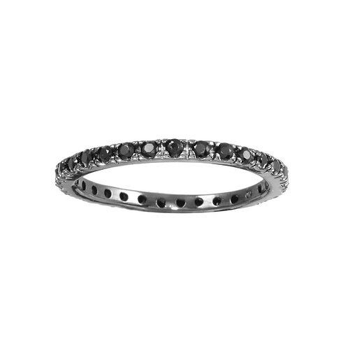 Eternity Noire Silver Band