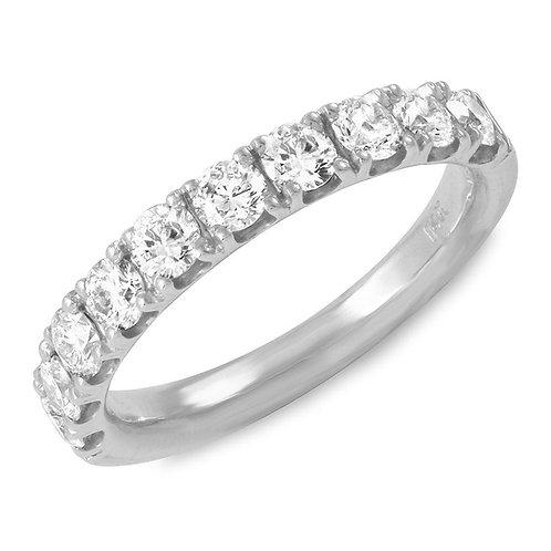0.75 Carats Diamond Gold Band (2.5mm)
