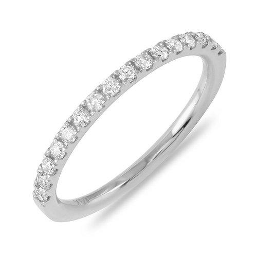 0.25 Carats Diamond Gold Band (1.6mm)