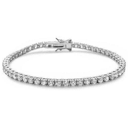 3MM TENNIS BRACELET - 5.5 Carats - Sterling Silver