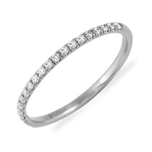 0.16 Carats Diamond Wedding Band (1.5mm)