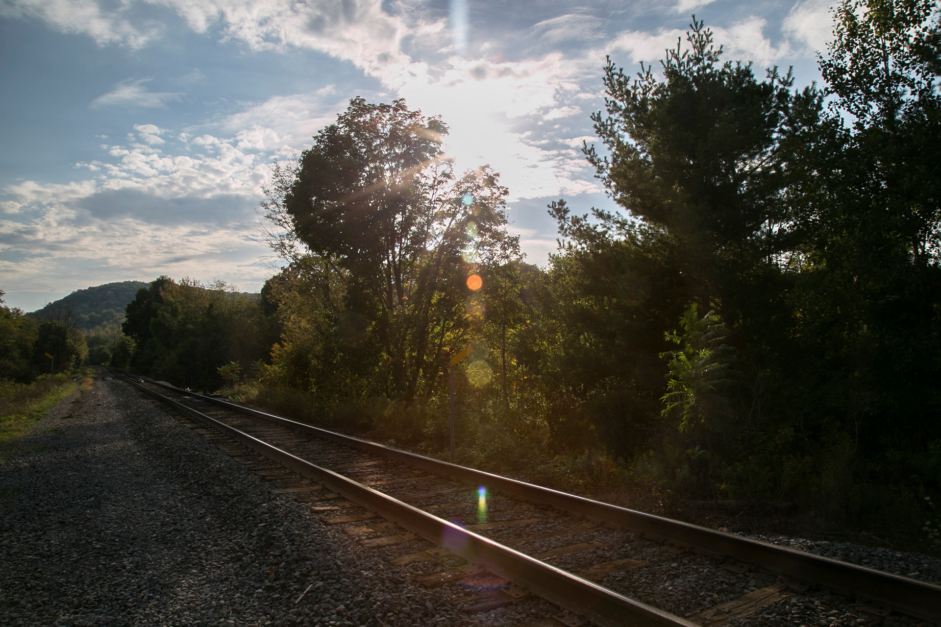 Sun on the tracks