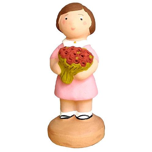 Fillette au bouquet