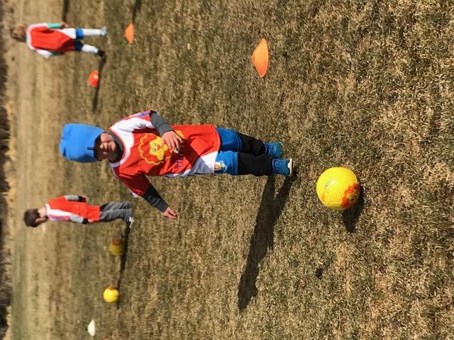 Magnus Playing Soccer
