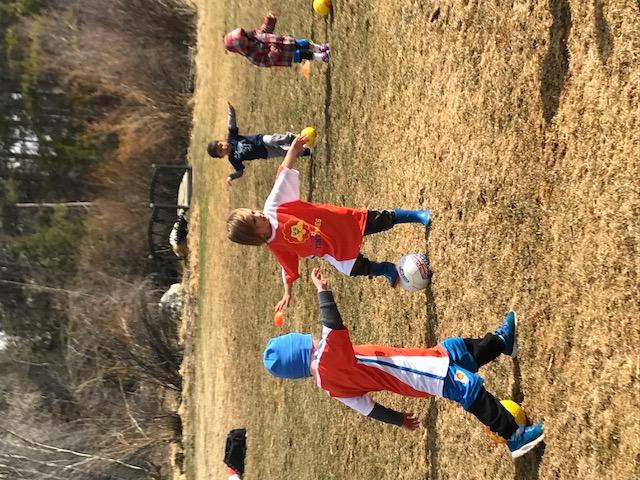 Shaye Playing Soccer