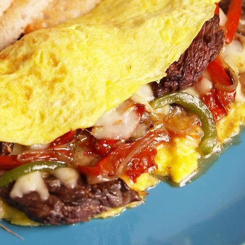 Southwest Steak and Pepper Omelette
