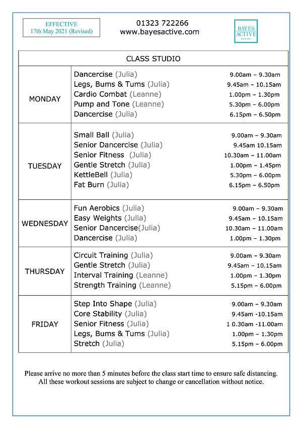 New timetable 17th May 2021 A4 (Revised)