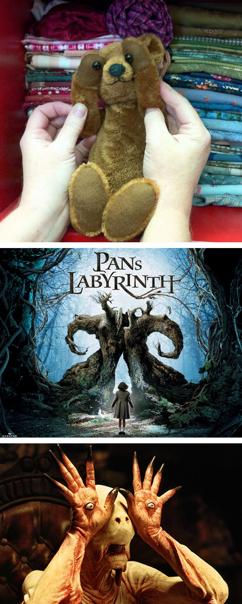 Potbelly Bear as Pan's Labyrinth monster