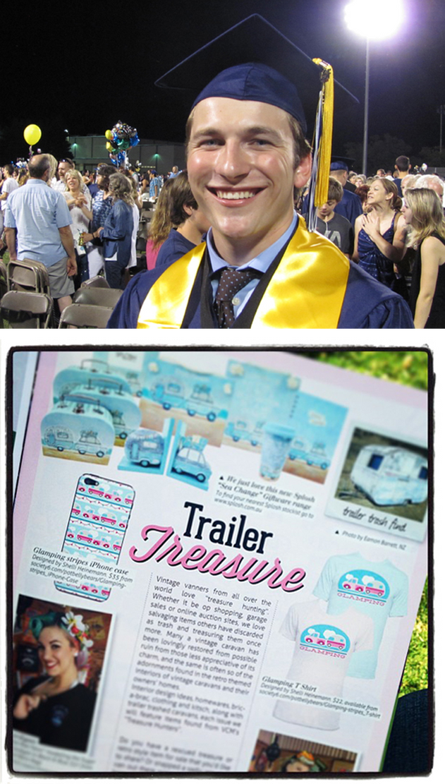 Graduations, vintage caravans, & Silly Bears