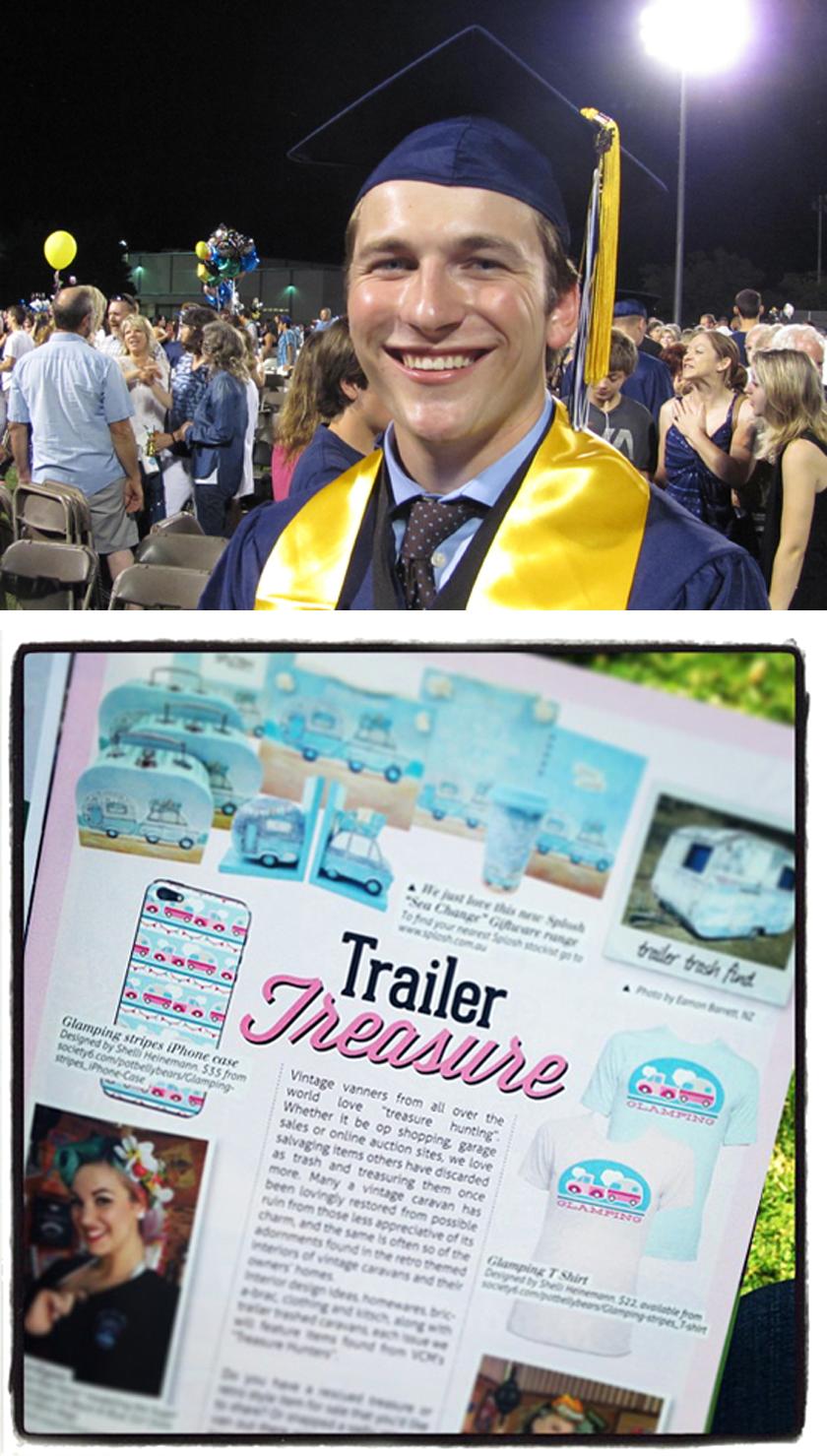 Graduation, Vintage Caravan Magazine article