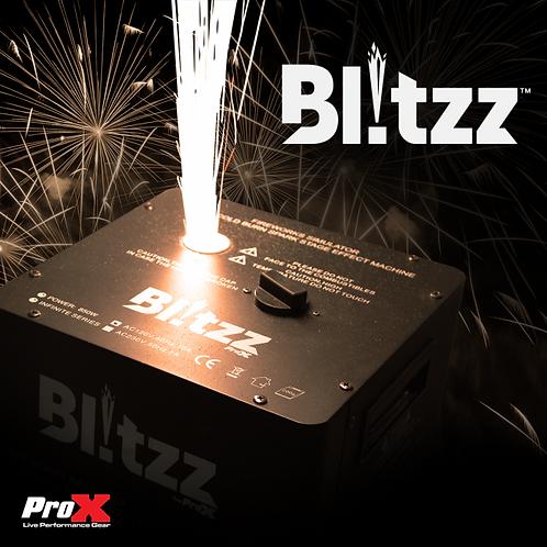 Blitzz Cold Spark Effect Machine Set of 2 W-Wheeled Road Case