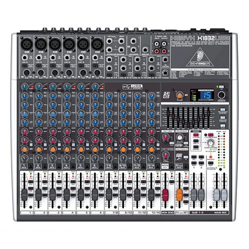 Behringer Xenyx X1832 USB Mixer with USB and Effects