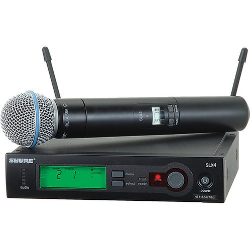 Shure SLX Series Wireless System With Beta 58 Capsule (H5: 518 – 542 MHz)