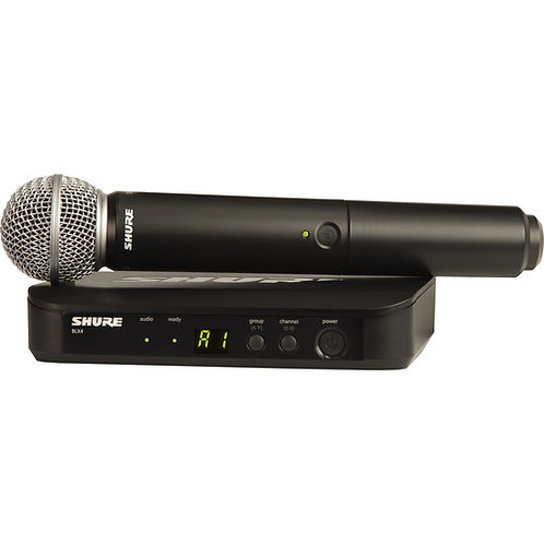 Shure BLX-24 Wireless System With SM58 Microphone (H9: 512 – 542 MHz)