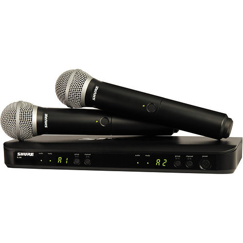 Shure BLX-288 Wireless System with 2 PG58 Microhpone (J10: 584 – 608 MHz)