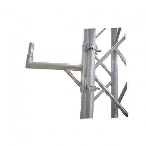 """Pro-X Aluminum 14"""" Speaker Mount W-2 Clamps"""