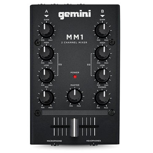 Gemini MM1 2Channel Compact DJ Mixer