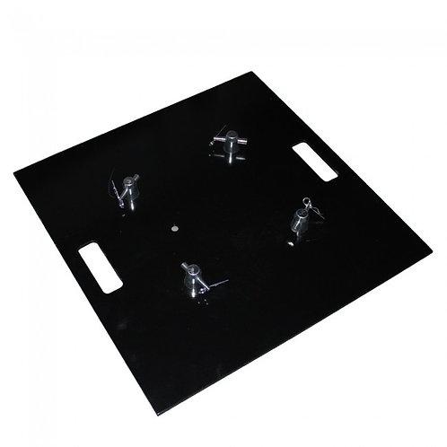 "Pro-X 24"" x 24"" Steel Base Plate (Black Coated)"