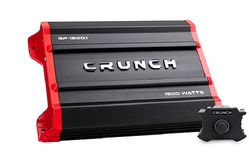Crunch 1500 Watts Ground Pounder Mono Subwoofer Car Audio Amplifier.