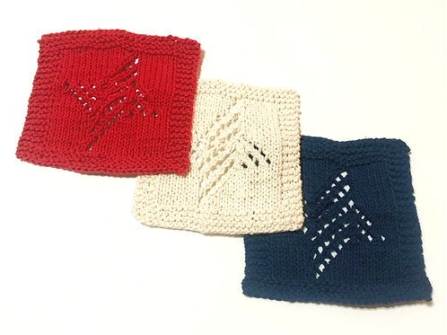 Americana Cotton Dishcloths - Set of 3