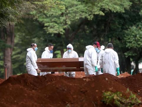 Brasil acumula 21% de todas as mortes por coronavírus na última semana
