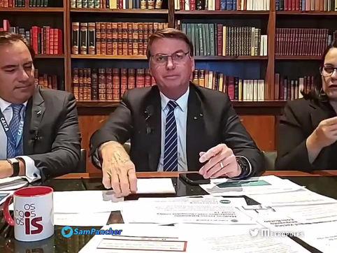 Bolsonaro: só Deus me tira da cadeira presidencial, e me tira, tirando a minha vida