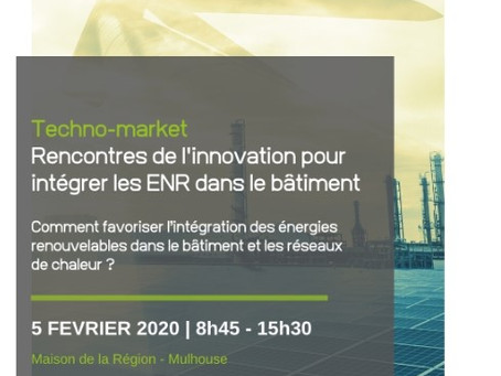 Retrouvez-nous au Technomarket de Mulhouse le 05/02 pour parler efficacité énergétique !
