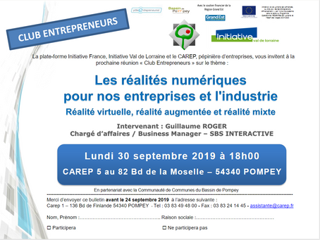 """Inscrivez-vous à la conférence du 30/09 """"Réalités numériques pour nos entreprises et l'industrie"""""""