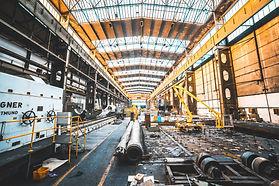 white-generator-set-near-industrial-mach