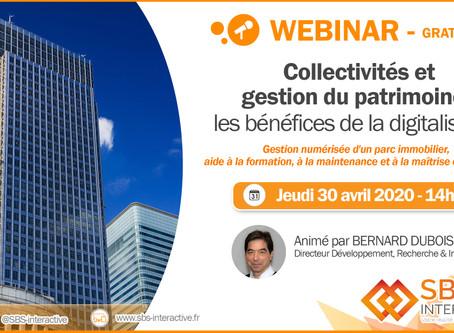 """Webinar """"Collectivités et gestion du patrimoine : les bénéfices de la digitalisation"""" jeudi 30 avril"""