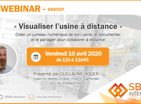 "WEBINAR - vendredi 10 avril 2020 à 11h : ""Visualiser l'usine à distance"""