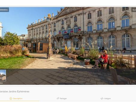 Les jardins éphémères de Nancy... aussi virtuels !