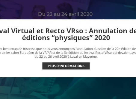Laval Virtual 2020 annulé : nos prochains rendez-vous
